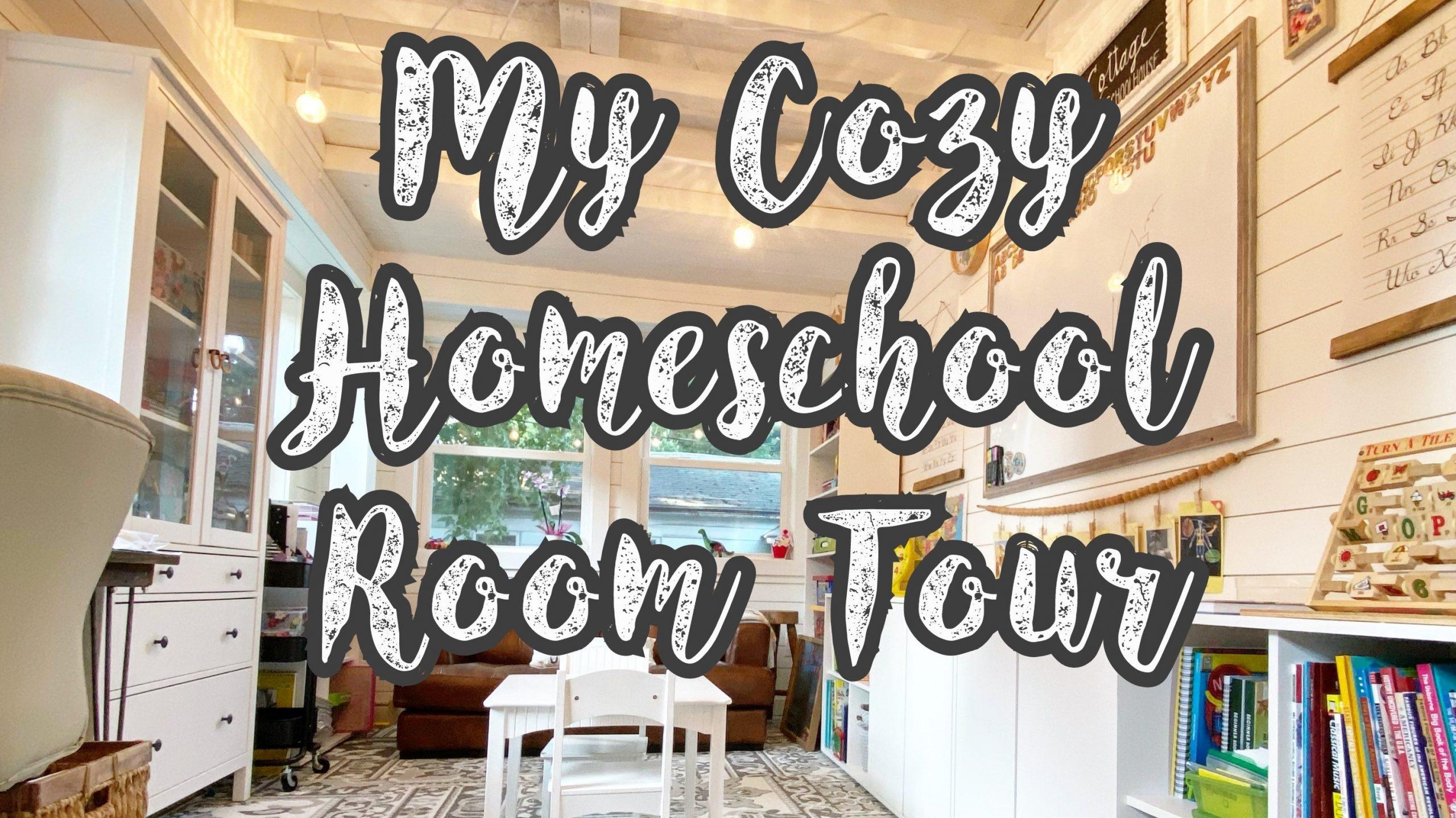 My Cozy Homeschool Room Tour: 2020 - 2021 School Year ...